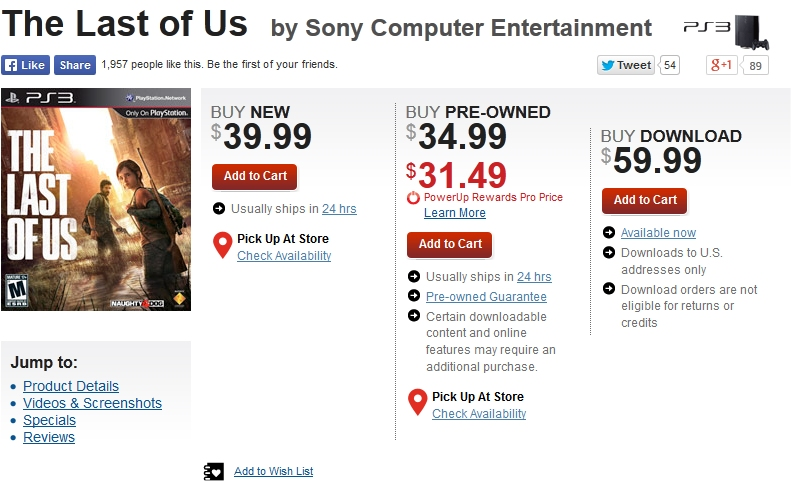 The Last of Us PS3 - GameStop