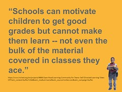 "Educational Postcard:  ""#11 - we can't motivate learning."""