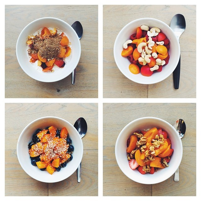 What's your favourite apricot breakfast?! Breakfast fruit salads. Apricots week. #instafood #instasalad #feelgood #healthy #healthyfood #saladpride #saladlove #saladjam #salad #vegetarian #vegan #desk #veg #veganfood #veganshare #cleaneat #eatclean #nutri