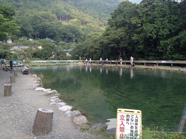 藤原岳 裏道(聖宝寺道)への道 釣堀