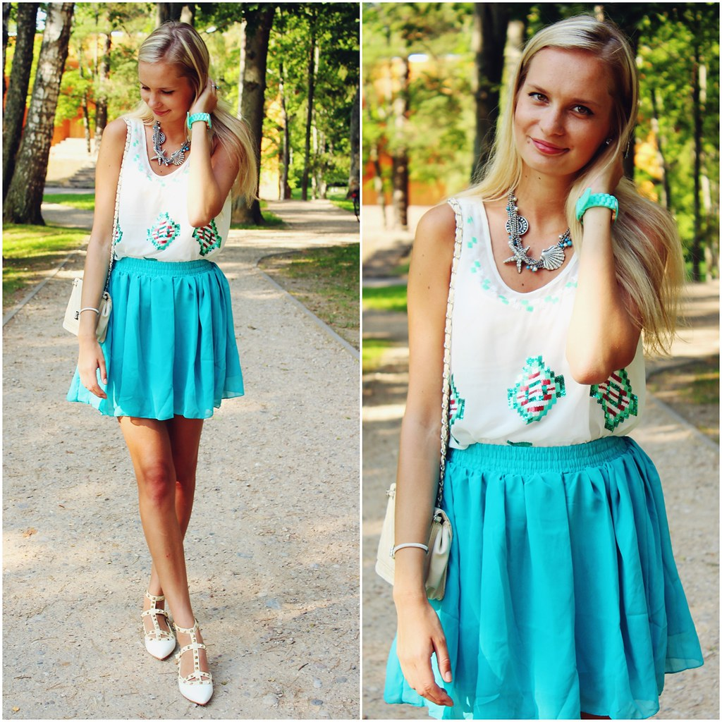 summer-outfit-mint-green-aqua-color
