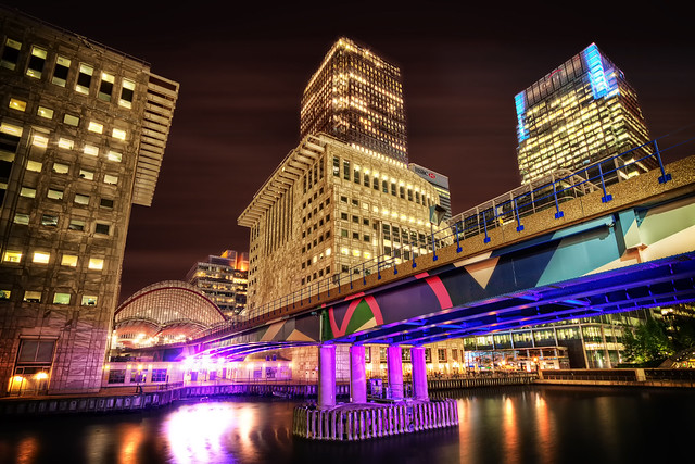 Canary Wharf at Night | London, England, Niko Trinkhaus, (CC by-nc)