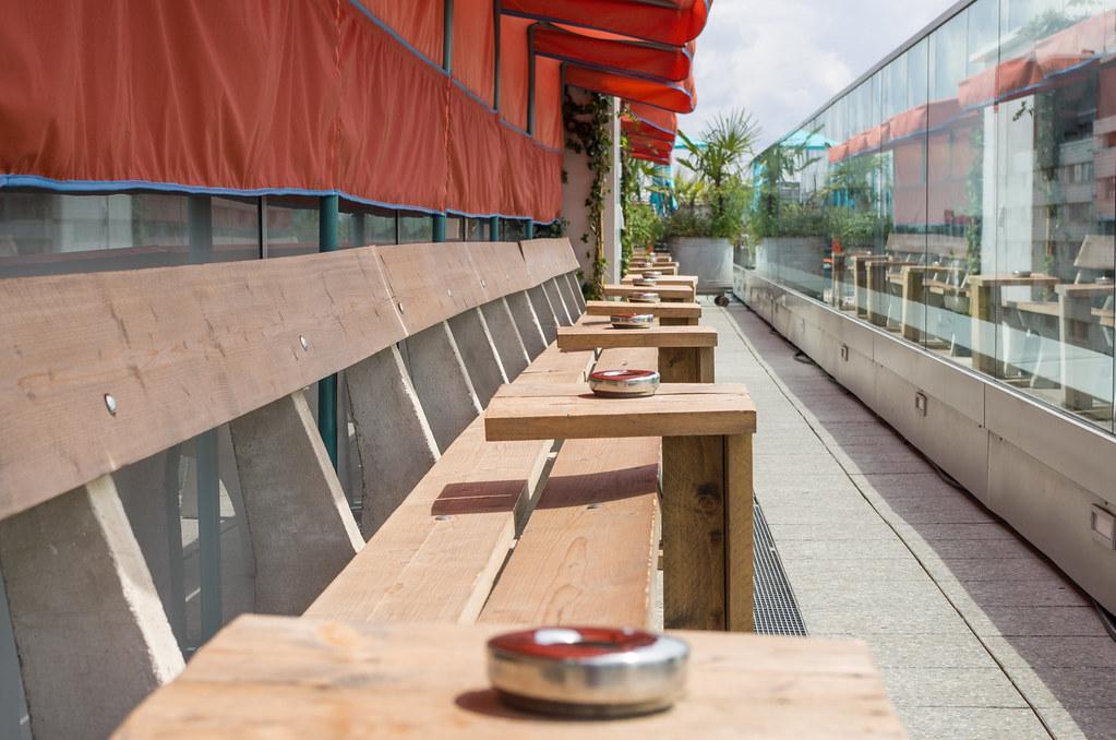 Hotel design à Berlin Tiergarten - Le 25h hotel Bikini - La terrasse