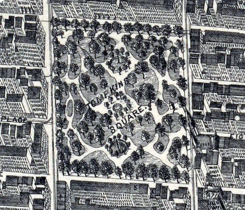 Tompkins Square Map 1879