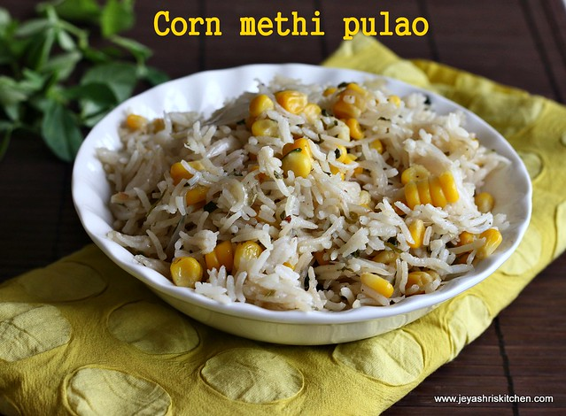 Corn-methi pulao
