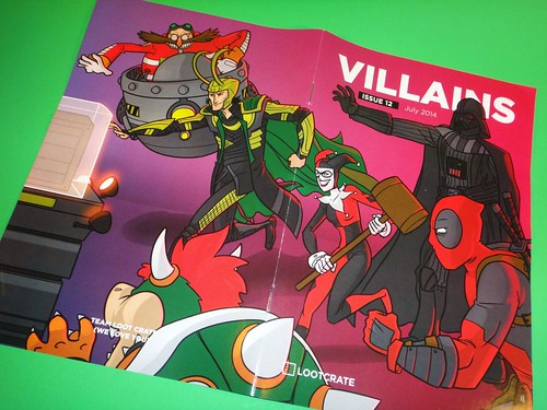 July 2014 Loot Crate: Villains mini-mag