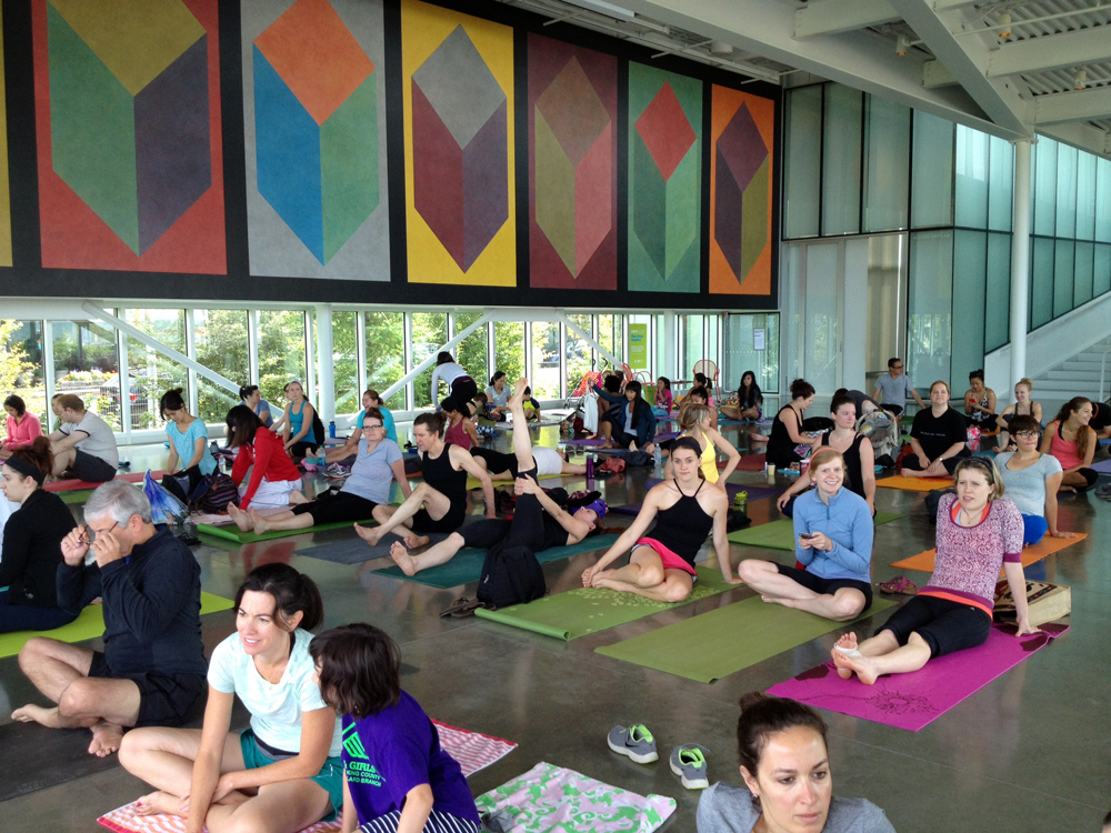 yoga at Olympic Sculpture Park 2