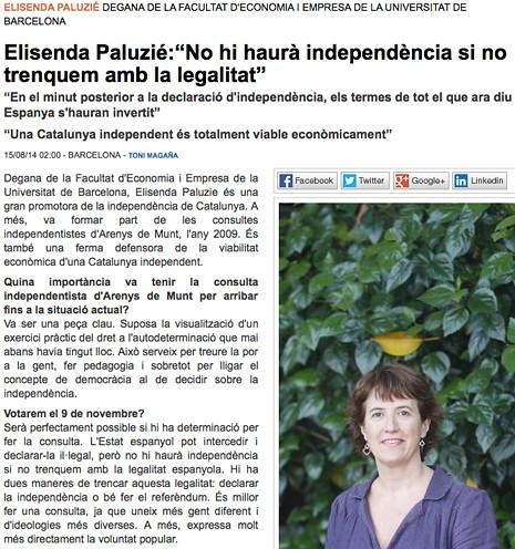 14h15 EPunt No habrá independencia si no violentamos la legalidad