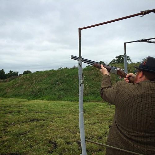 Shooting clay pigeons