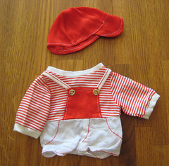 costume(0.0), baby & toddler clothing(1.0), clothing(1.0), red(1.0), outerwear(1.0), pink(1.0),