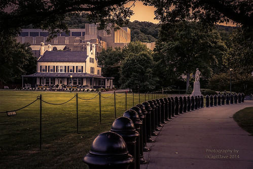 United States Military Academy West Point Superintendent's Quarters (1820)  Colonel Thayer Monument Sunset HDR 6X4
