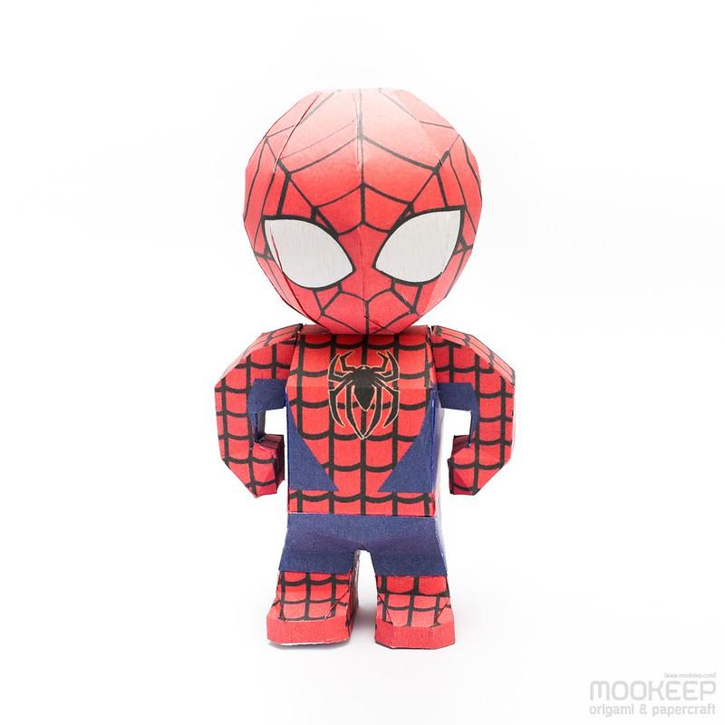 วิธีทำของเล่นโมเดลกระดาษสไปเดอร์แมน (Spiderman Papercraft Model) 003