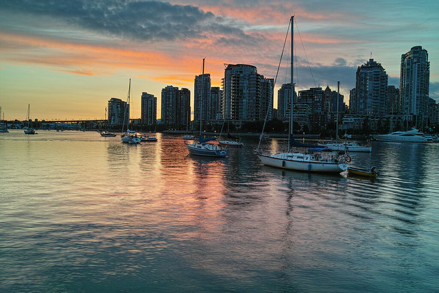 Sunset in False Creek