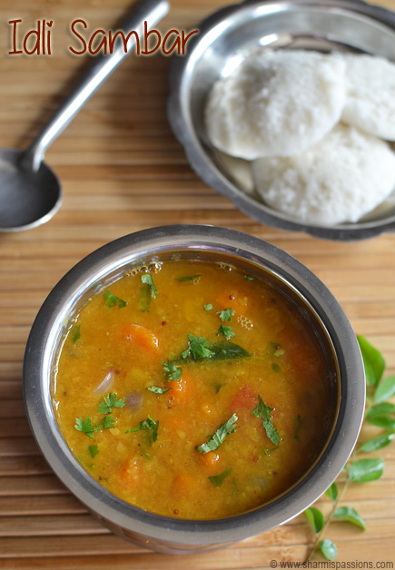 Sambar Idli Recipe