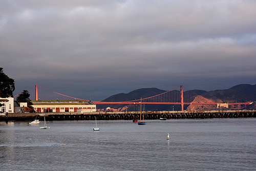 morning light on Golden Gate bridge