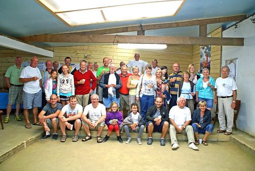 Les participants de la cinquième séance d'initiation aux boules plombées à Primel Trégastel (Plougasnou) le 06/08/2014