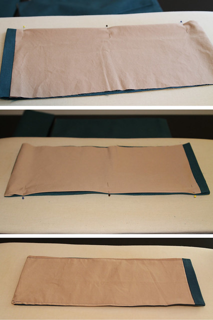 DIY Pleated Bedskirt Sew the edges closed