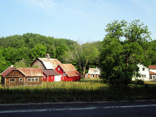 Rusty roofs and red barns