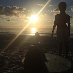 Wake up. Watch the sunrise. Listen to the waves crash. Routine. #saturday #sunrise