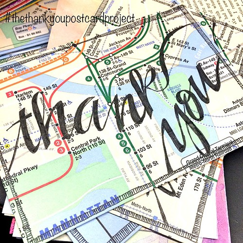 Work in progress: ink on a piece of the NY subway map for #thethankyoupostcardproject - Remember to say thank you ... #thanks #thankyou #kindness #sayit #payitforward #postcard #pen #pspercrafts #crafts #workinprogress