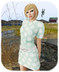 DC86 - Baboom Couture - June Dress - AquaGreen