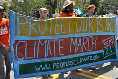 People's Climate March at West Indian Parade
