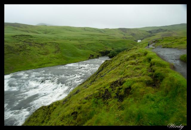Río Skógá con lluvia