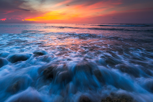 ocean blue sunset seascape beach water vertical clouds landscape sand jamaica montegobay saintjamesparish canon5dmiii stbransburg