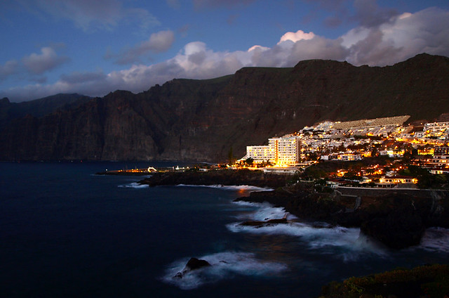 Los Gigantes at Night, Tenerife