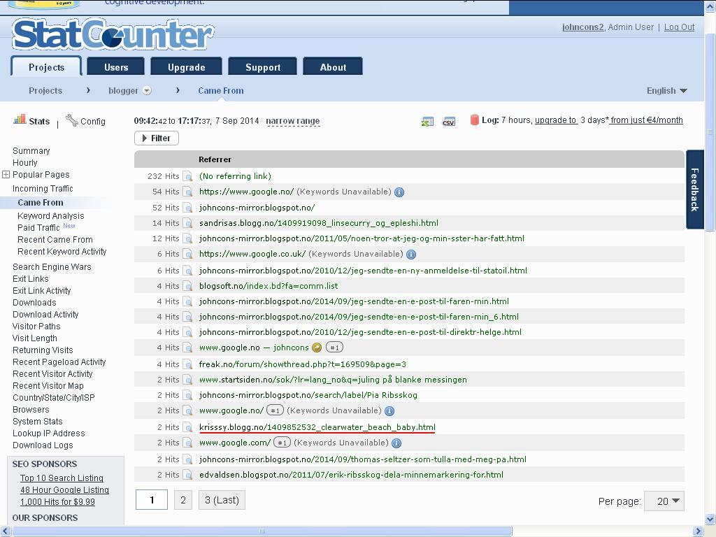 blog statcounter