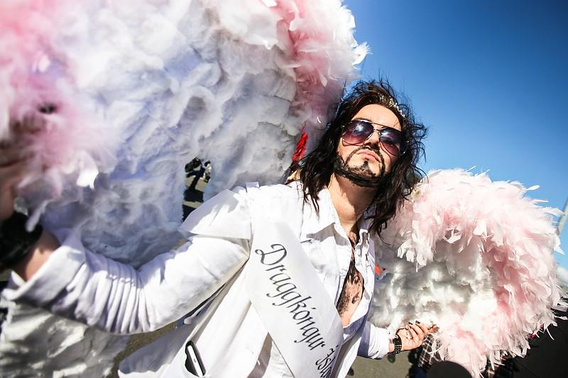 Drag king at Reykjavik Pride Parade