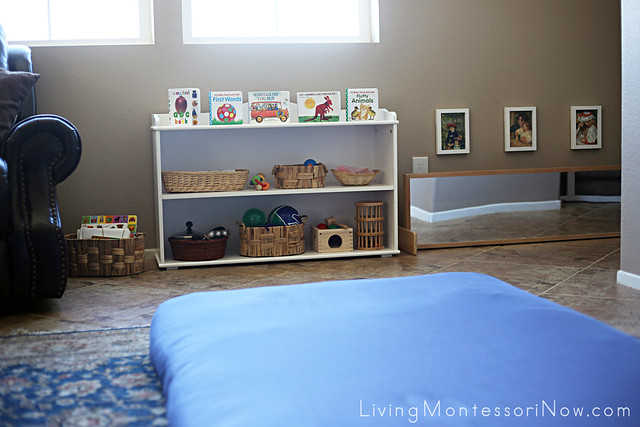 Montessori Baby-Toddler Space in our Living Room
