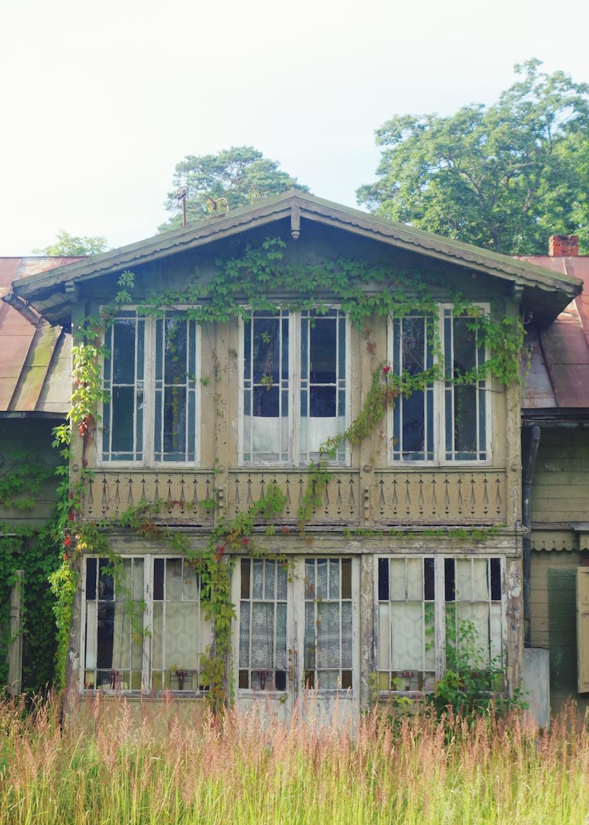 Jurmala Latvia old wooden house
