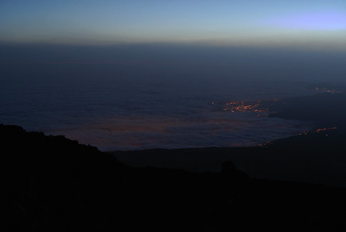 city morning light sunset cloud teide cloudsea