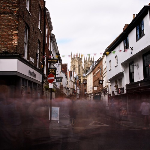 Throngs in York by Paul Gregory