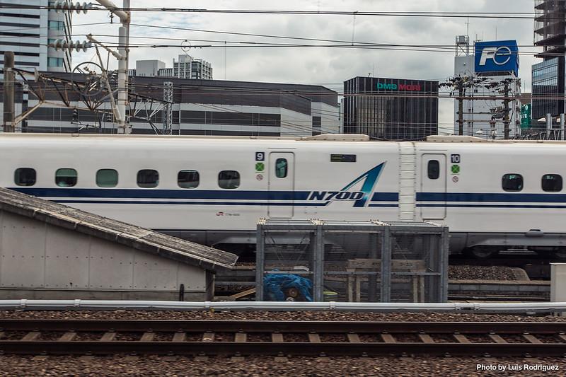 N700A (N700-1000) de JR Central llegando a Nagoya