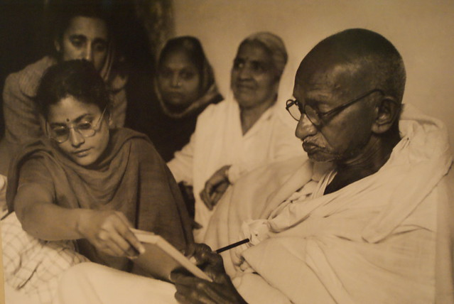 Photo de Gandhi quelques jours avant son assasinat