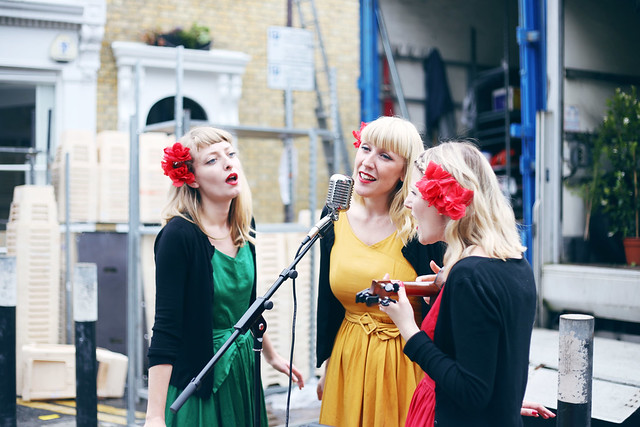 Singers at Columbia Road