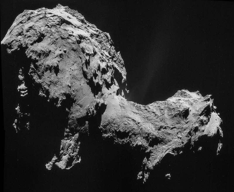 Comet 67P on 19 September 2014 – NavCam