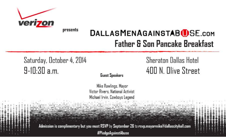 Men Against Abuse Father and Son Breakfast at Dallas Sheraton