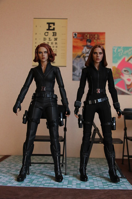 Black Widow: Captain America Winter Soldier Version with Avengers Version
