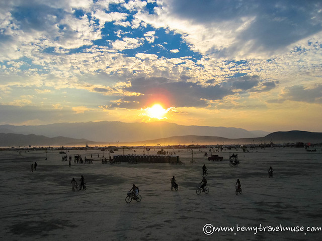 Burning Man sunset