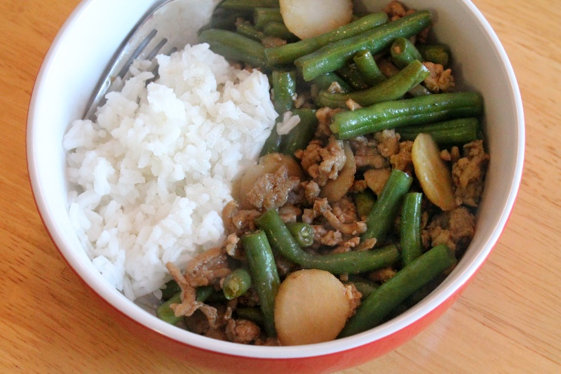Ground Chicken & Green Bean Stir-fry