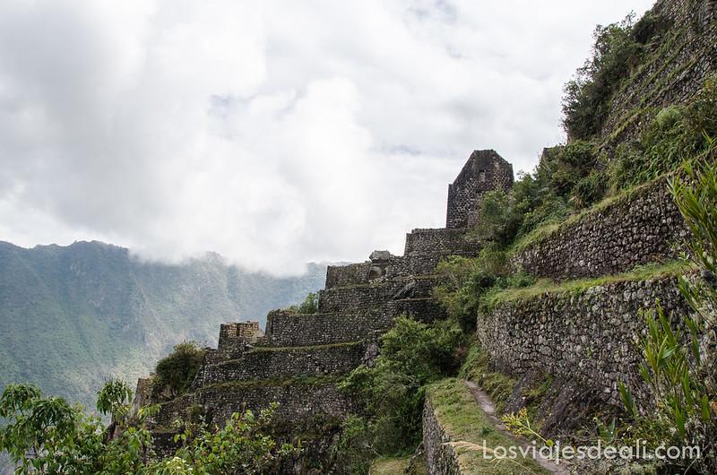 templo en lo alto del Wayna Picchu en Machu Picchu