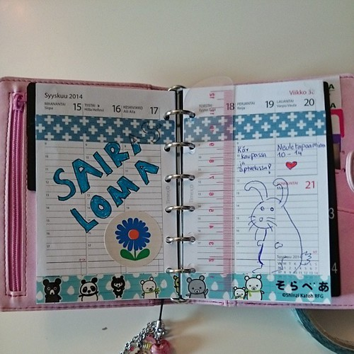Week 32 on my new planner. Not entirely happy with it, but it is a start. #planner #washitape #projectlife