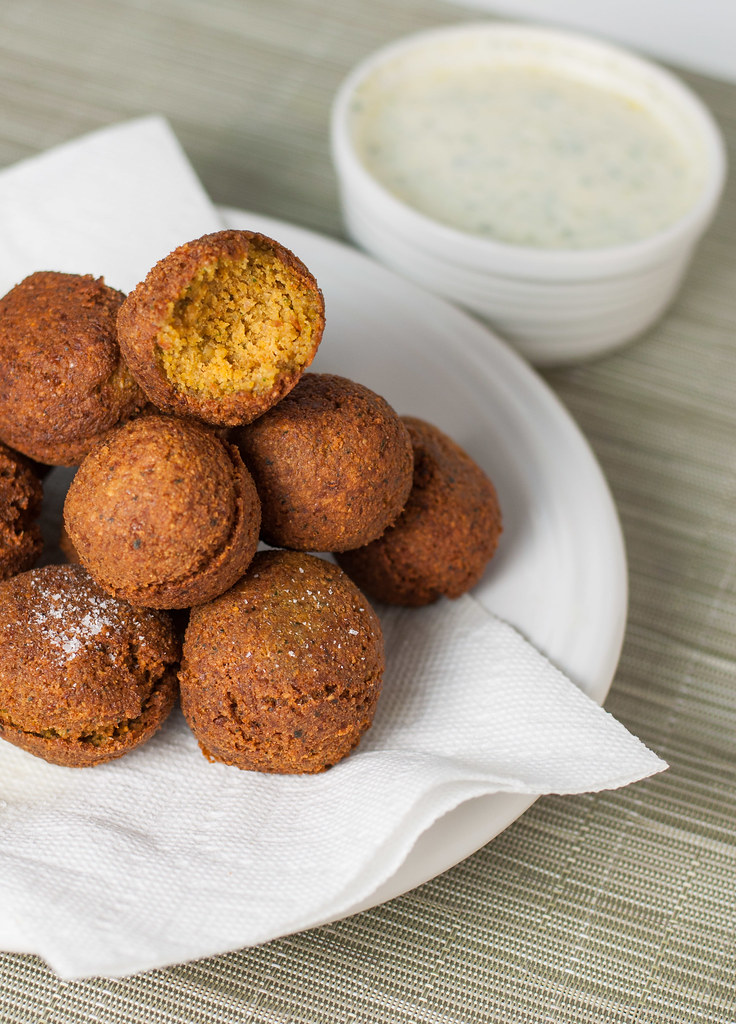 Homemade authentic falafel. No baking here.