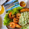 1st meal off the #boat was something from the #sea at Atlantica in #VilaVelha, #brazil #prawns #seafood #garlic #beer #rice #brasil #foodporn #nikon #nikonphotographer #travel #southamerica #foodphotography