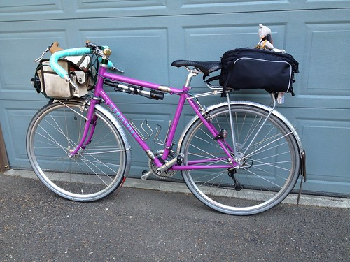 Bag with panniers folded away.
