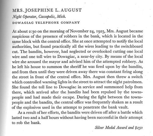 Mrs Josephine L. August