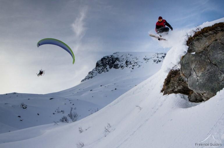 Lofoty s paraglidem